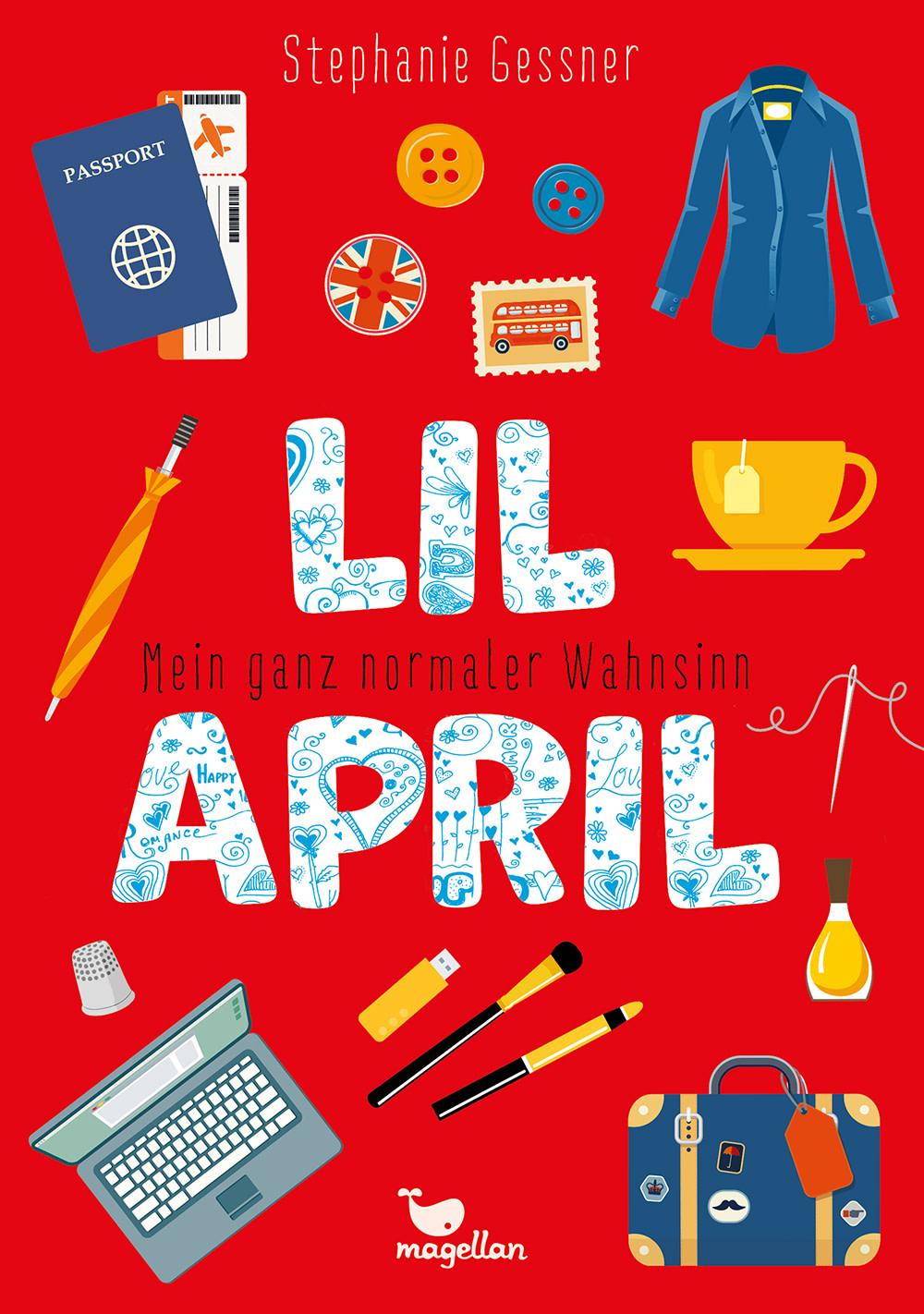 Cover Lil April Band4 Mein ganz normaler Wahnsinn Middle Grade von Stephanie Gessner