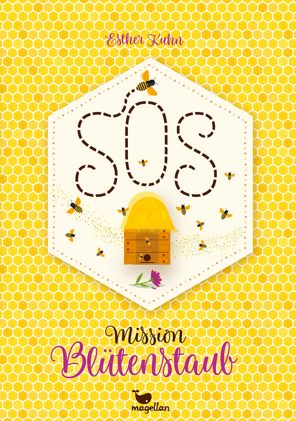 Cover SOS Mission Blütenstaub Middle Grade von Esther Kuhn