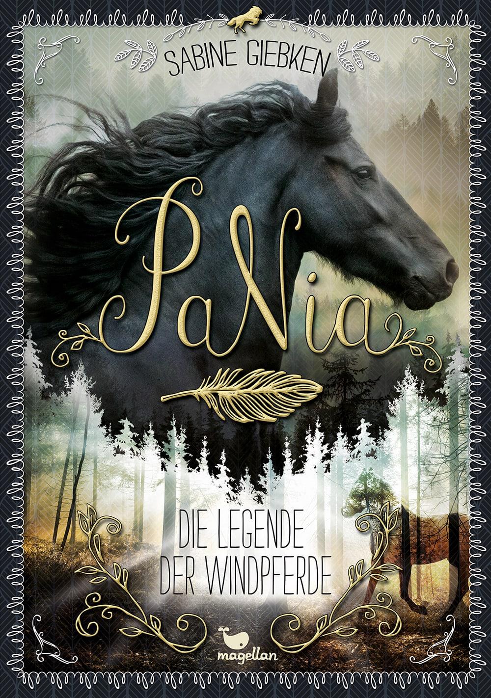 Cover PaNia Band1 Die Legende der Windpferde Pferdebuch von Sabine Giebken
