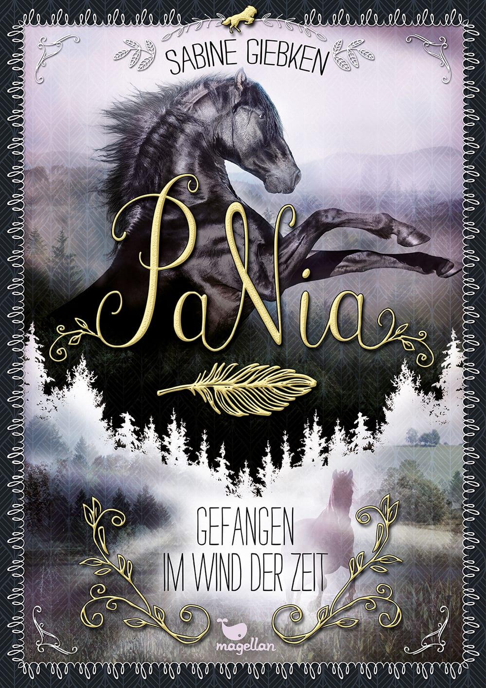 Cover PaNia Band3 Gefangen im Wind der Zeit Pferdebuch von Sabine Giebken