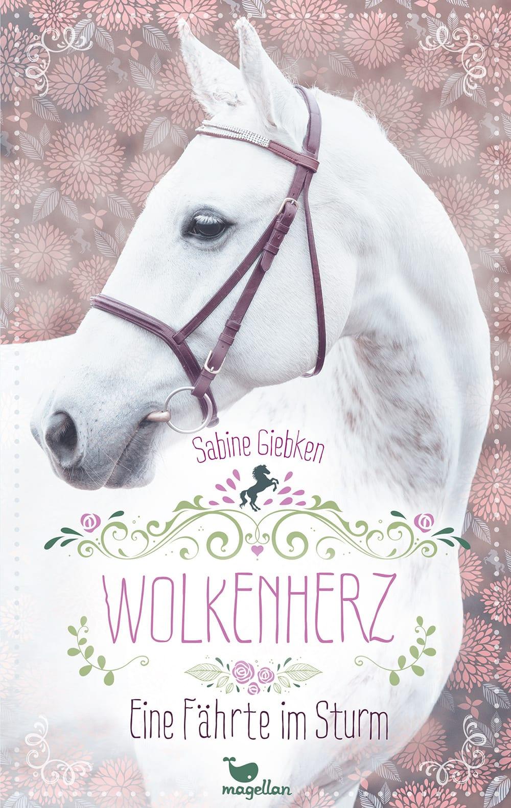 Cover Wolkenherz Band2 Eine Fährte im Sturm Pferdebuch von Sabine Giebken