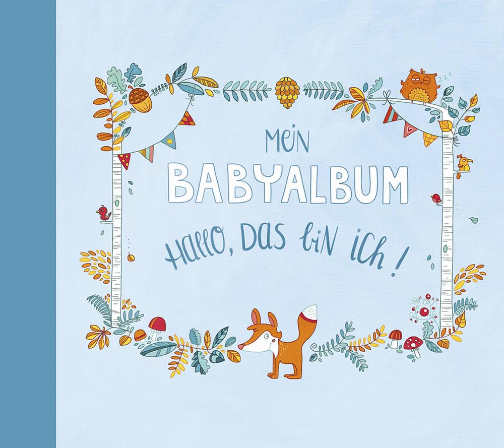Cover Mein Babyalbum Jungen Hallo, das bin ich Album Beschäftigung von Anna Taube und Johanna Fritz