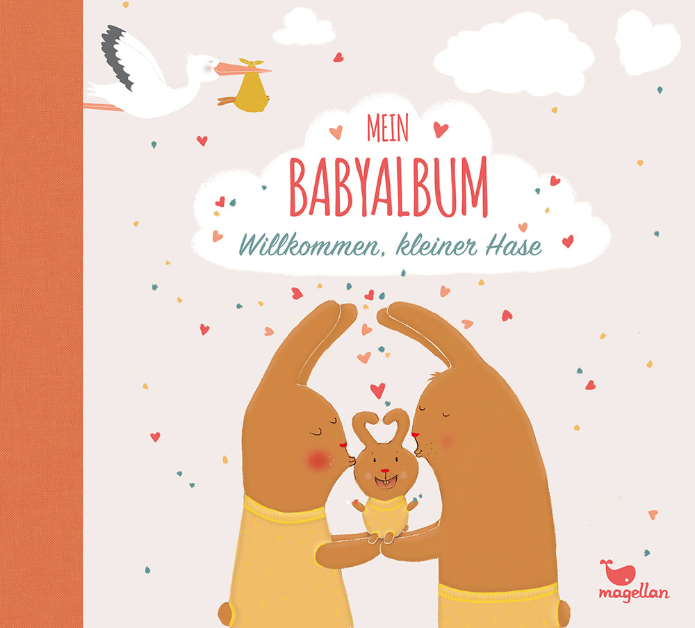 Cover Mein Babyalbum Willkommen, kleiner Hase Album Beschäftigung von Anna Taube und Susanne Schiefelbein