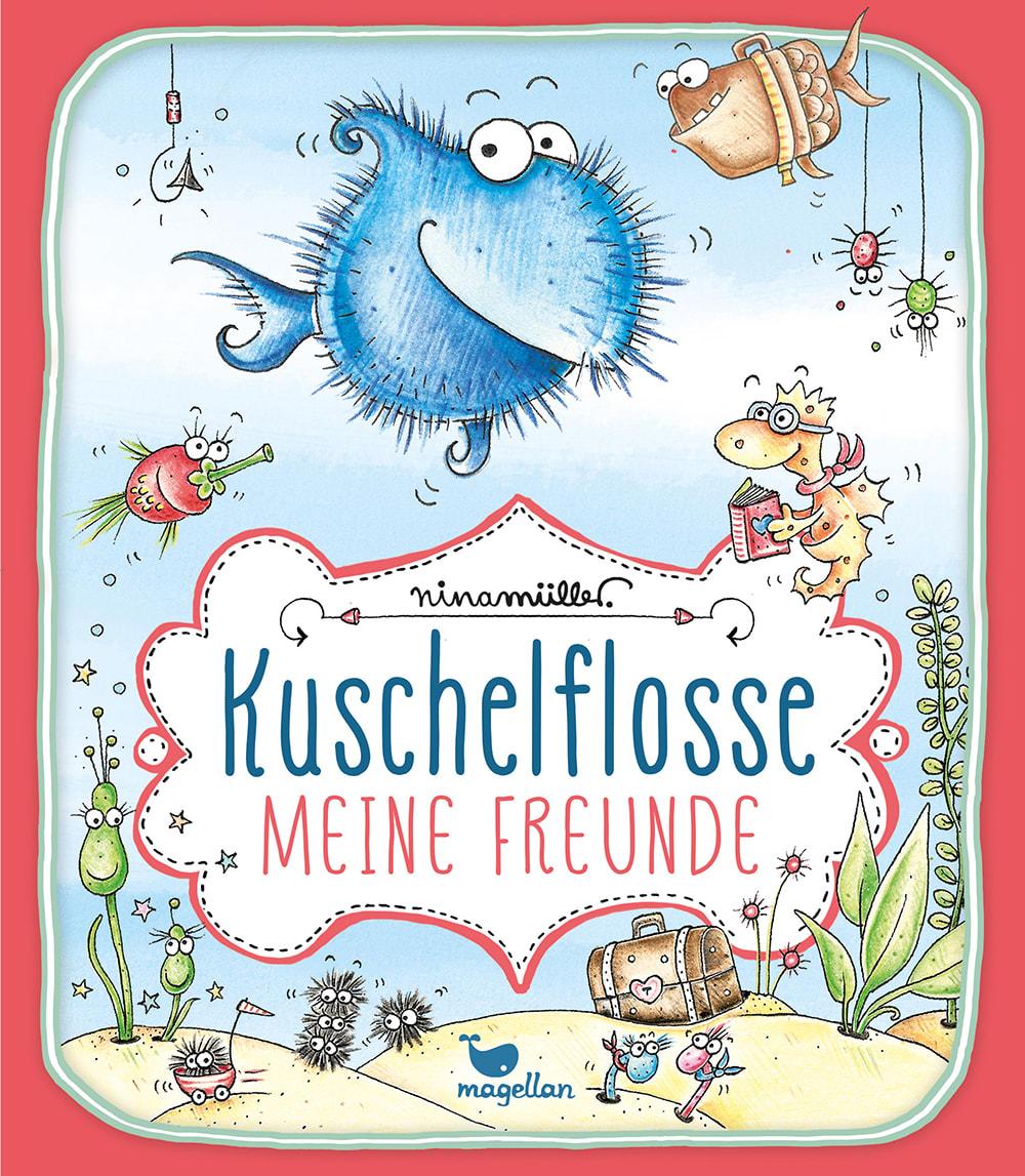 Cover Kuschelflosse Meine Freunde Freundealbum Beschäftigung zum Eintragen von Nina Müller