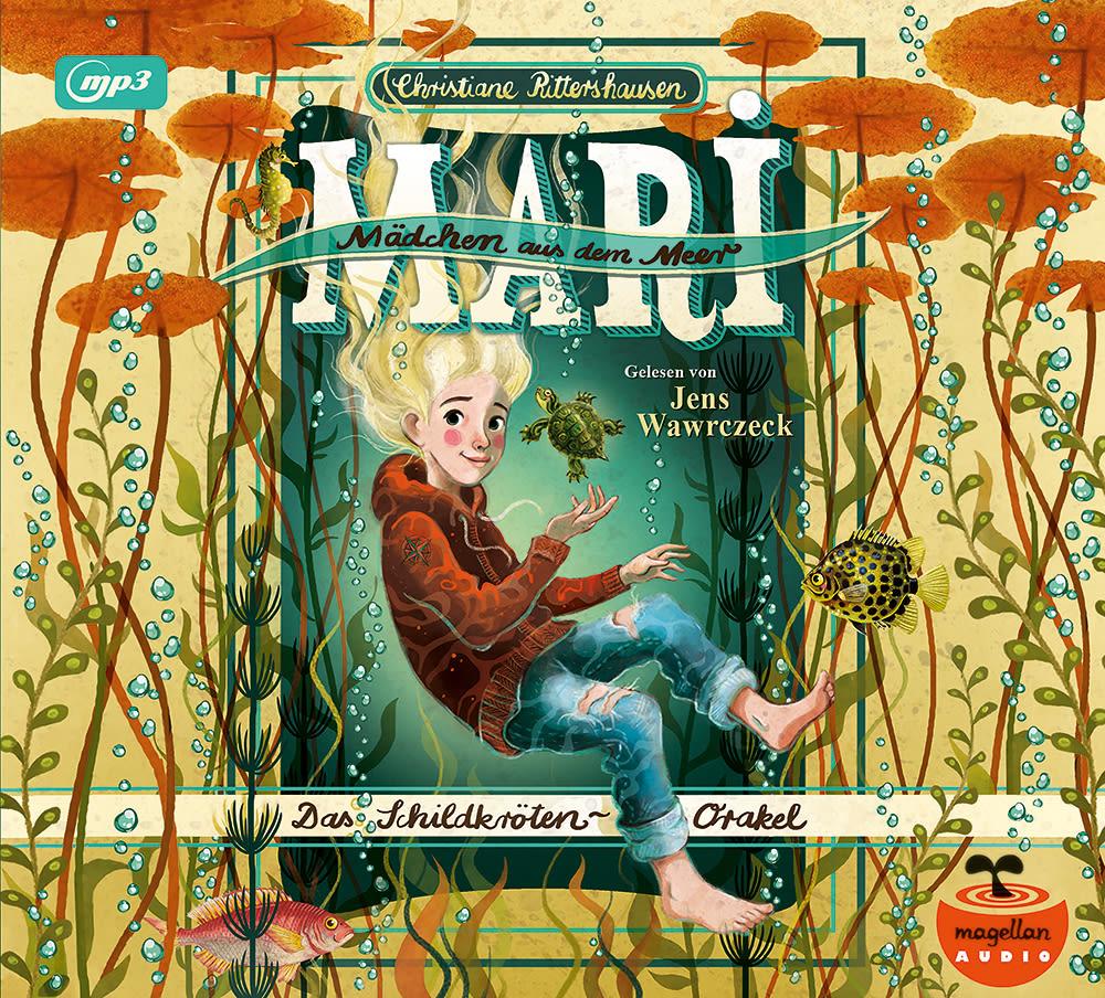 Cover Mari Mädchen aus dem Meer Band1 Das Schildkröten-Orakel mp3-CD Hörbuch von Christiane Rittershausen gesprochen von Jens Wawrczeck