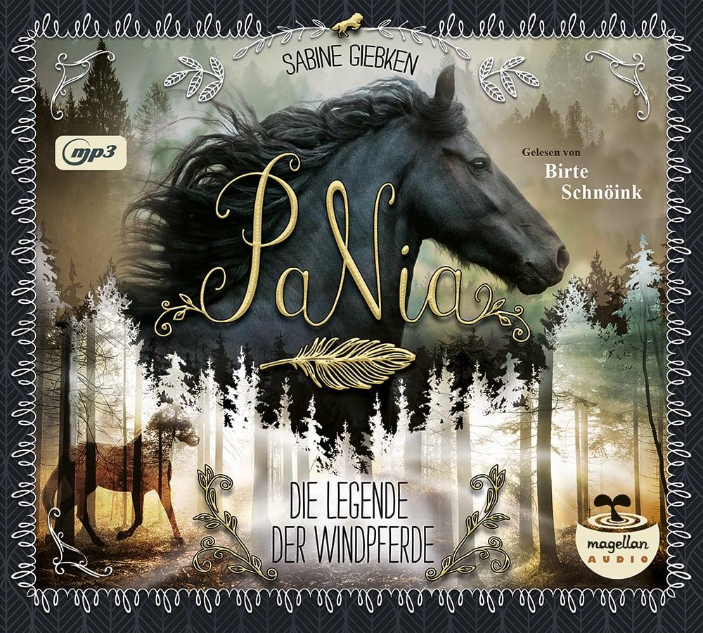 Cover PaNia Band1 Die Legende der Windpferde mp3-CD Hörbuch von Sabine Giebken gesprochen von Birte Schnöink