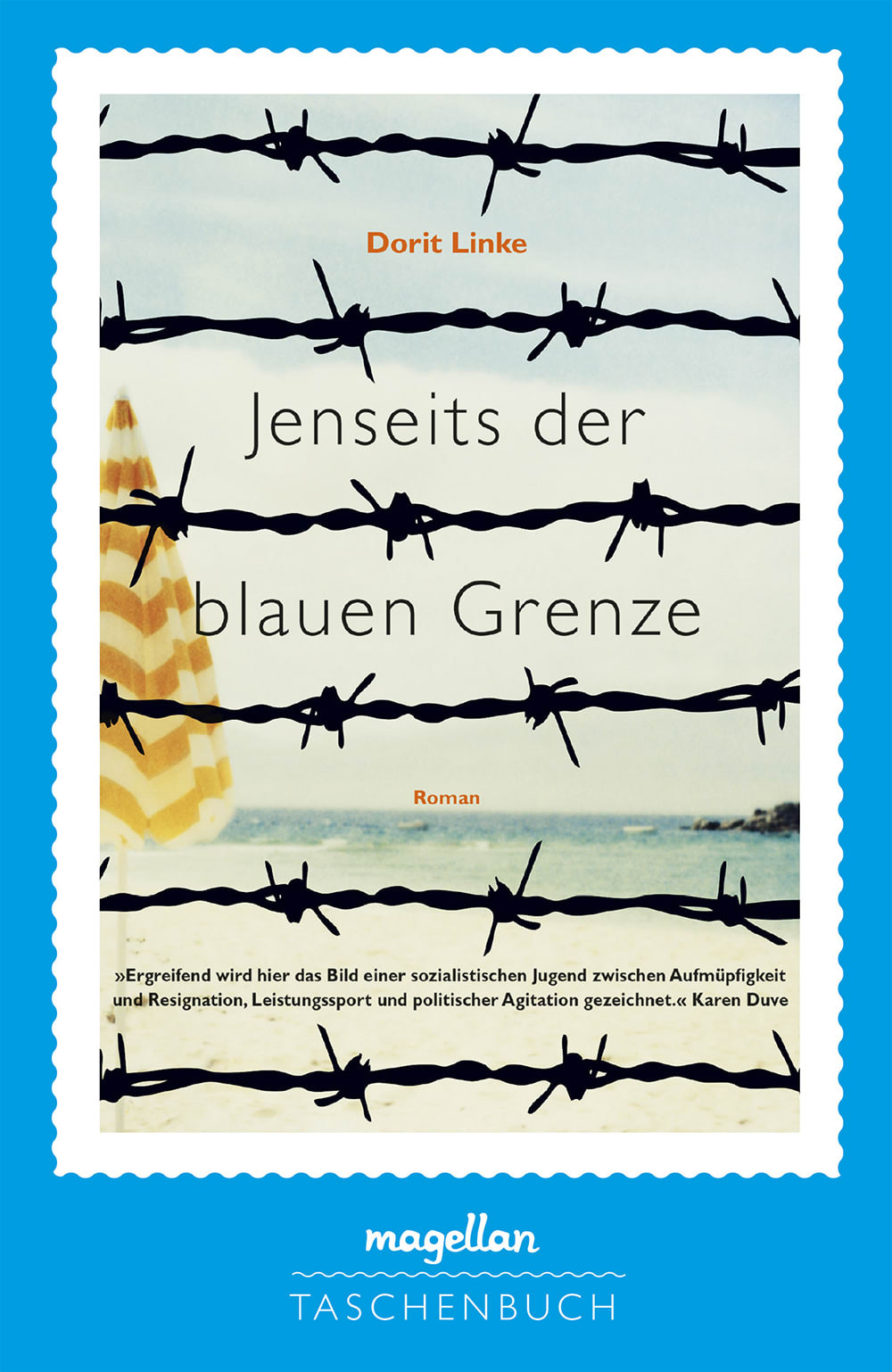 Cover Jenseits der blauen Grenze Jugendbuch von Dorit Linke