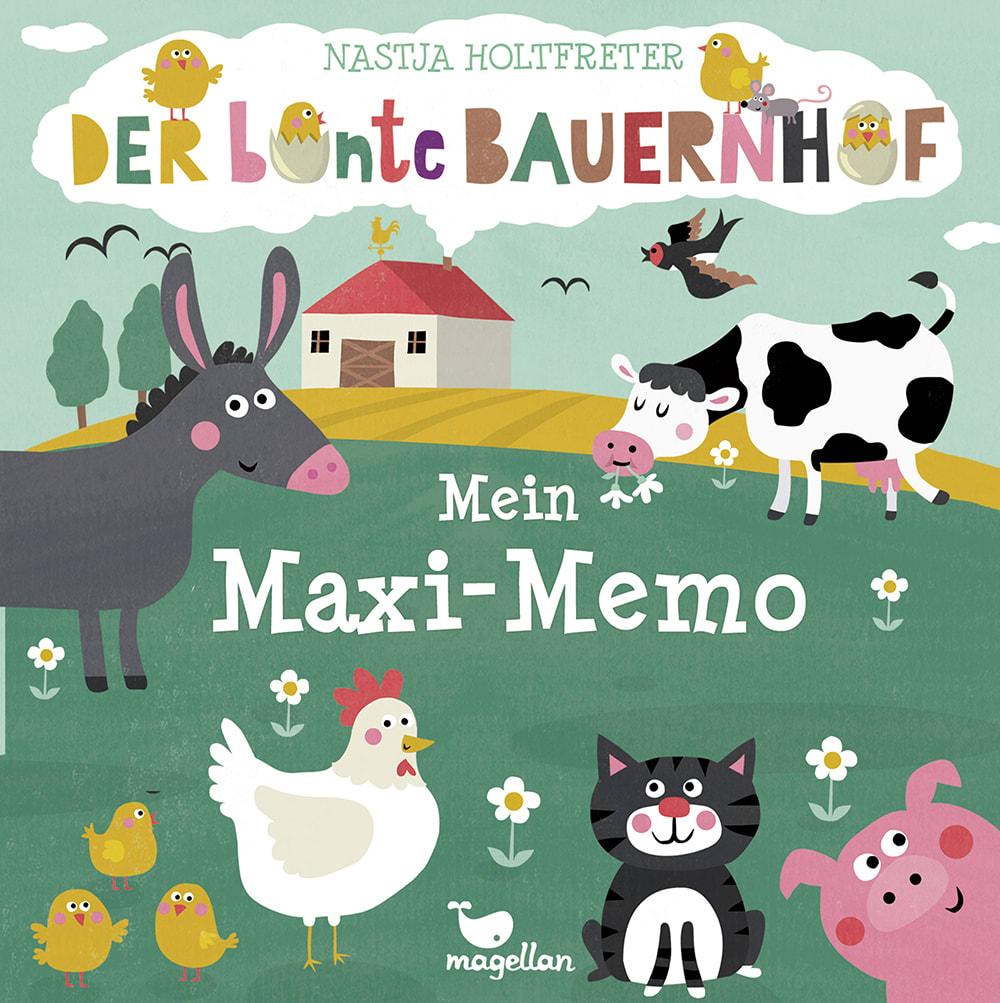 Cover Der bunte Bauernhof Mein Maxi-Memo Memo-Spiel von Nastja Holtfreter