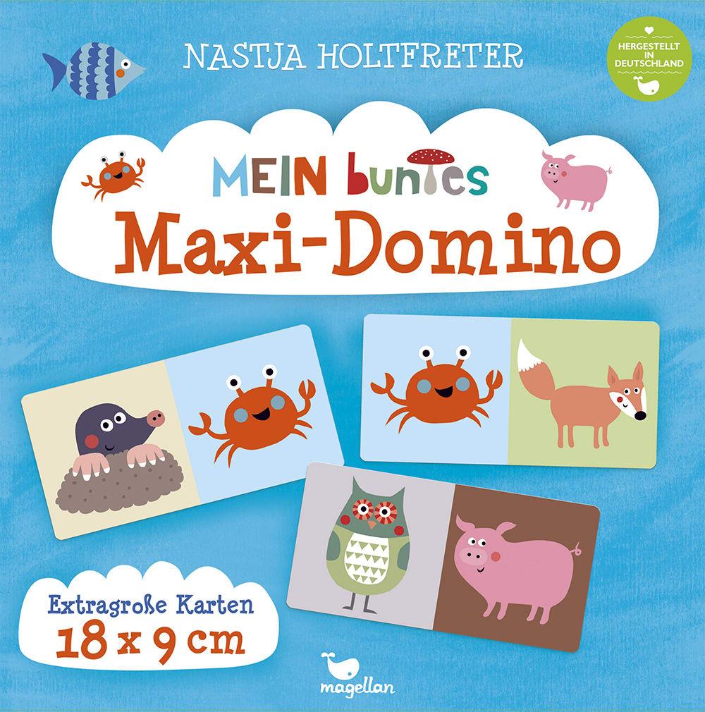 Cover Mein buntes Maxi-Domino Familienspiel von Nastja Holtfreter
