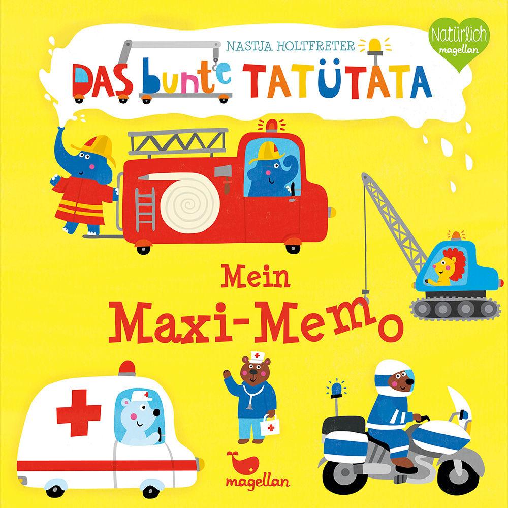 Cover Das bunte Tatütata Mein Maxi-Memo Memo-Spiel von Nastja Holtfreter