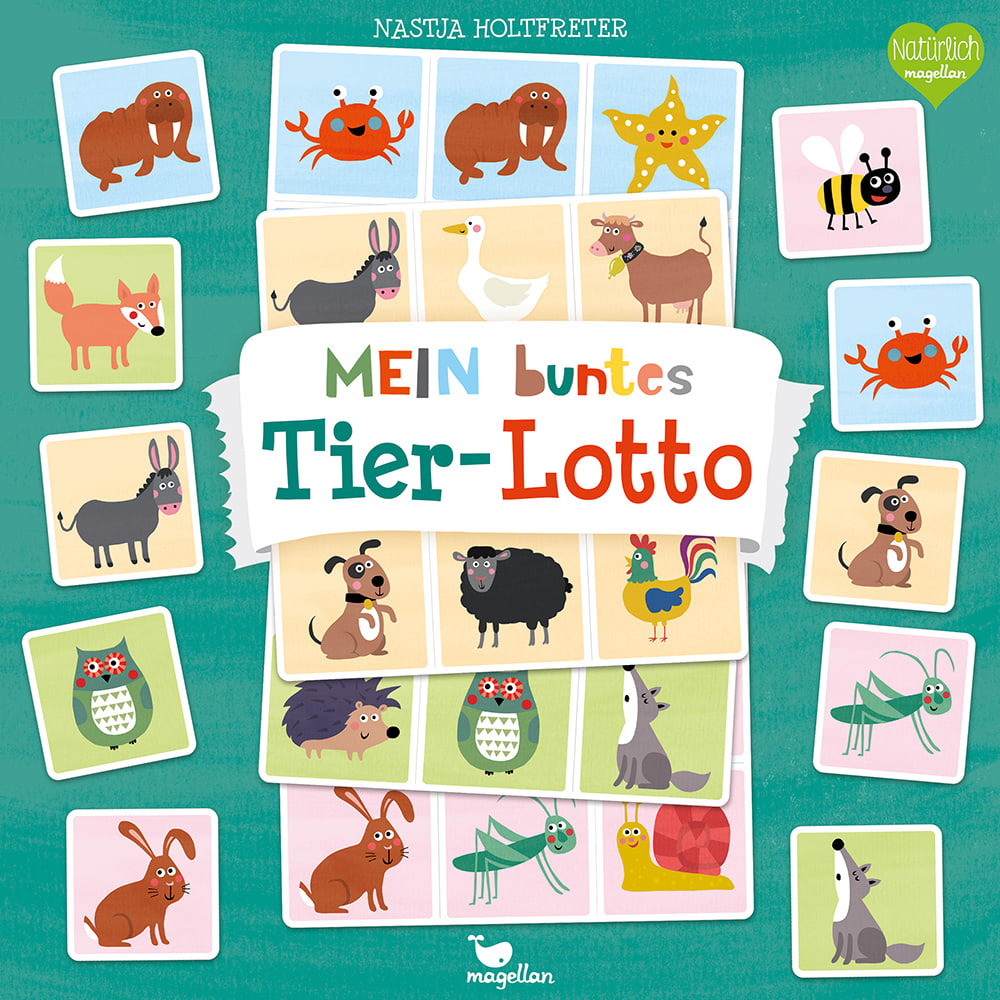 Cover Mein buntes Tier-Lotto Familienspiel von Nastja Holtfreter