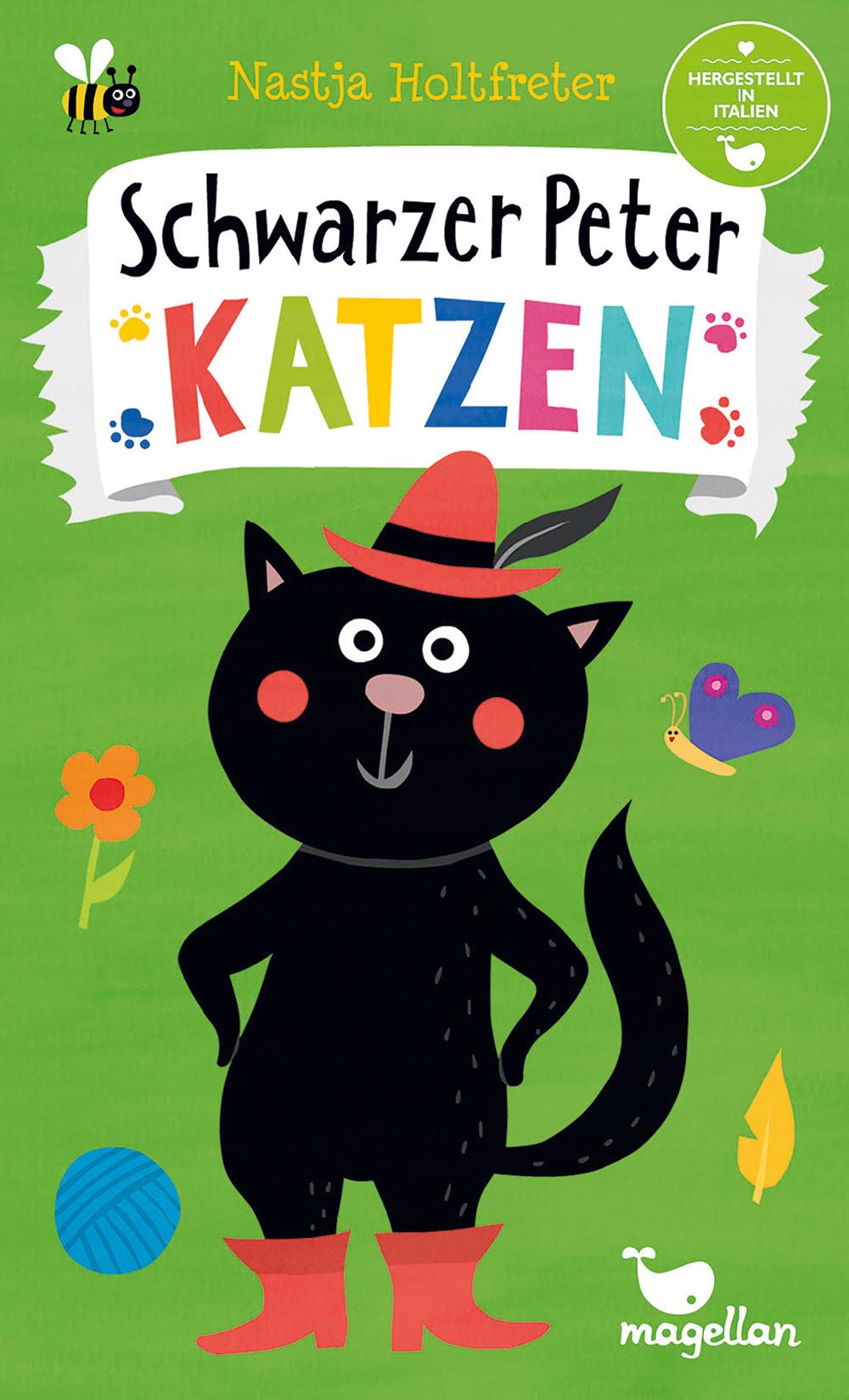 Cover Schwarzer Peter Katzen Kartenspiel von Nastja Holtfreter