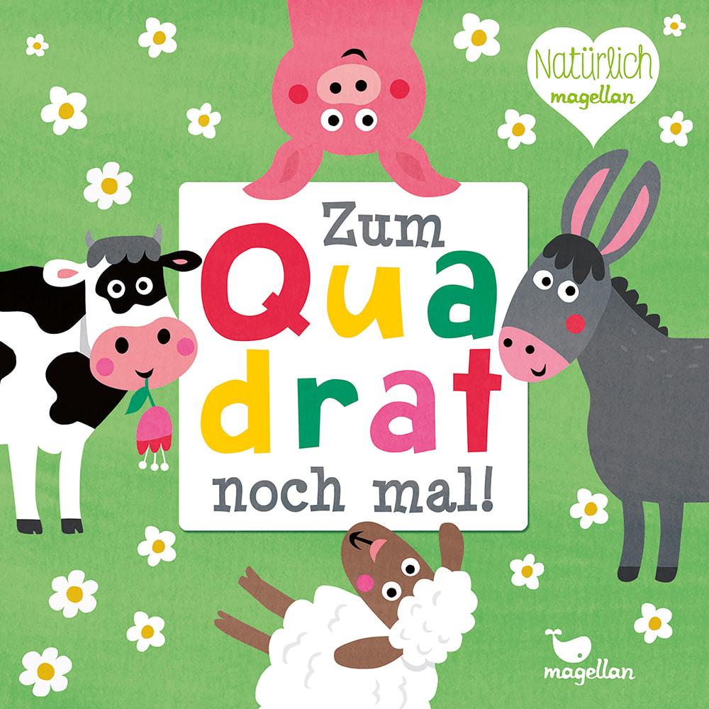 Cover Zum Quadrat noch mal Bauernhoftiere Lernspiel von Nastja Holtfreter