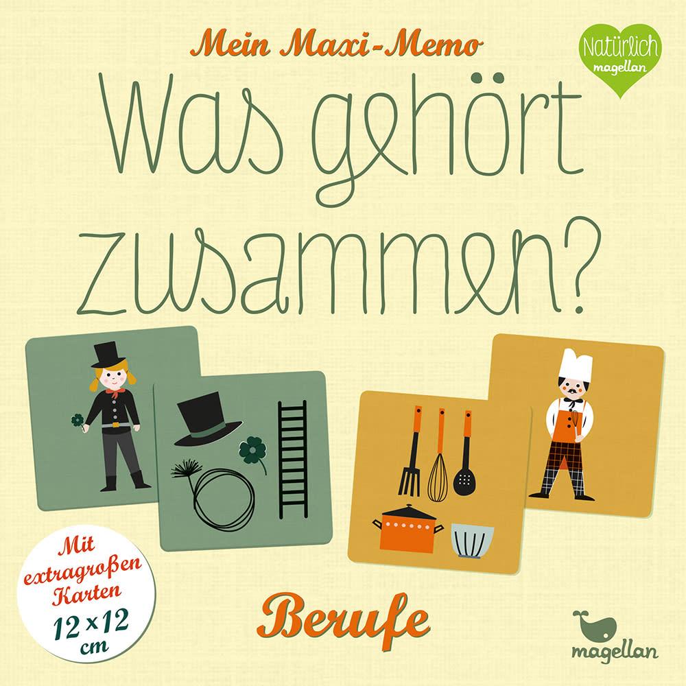 Cover Mein Maxi-Memo Was gehört zusammen Berufe Memo-Spiel von Daniela Merkel