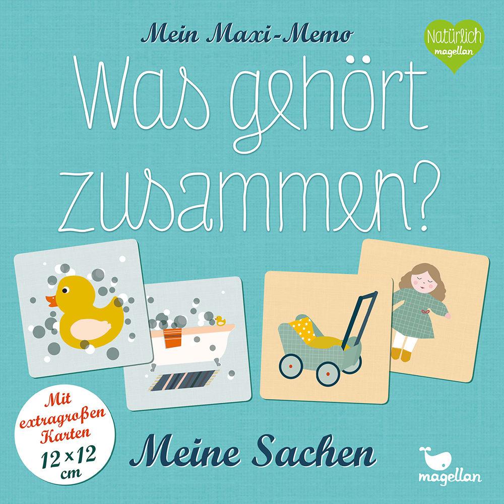 Cover Mein Maxi-Memo Was gehört zusammen Meine Sachen Memo-Spiel von Daniela Merkel