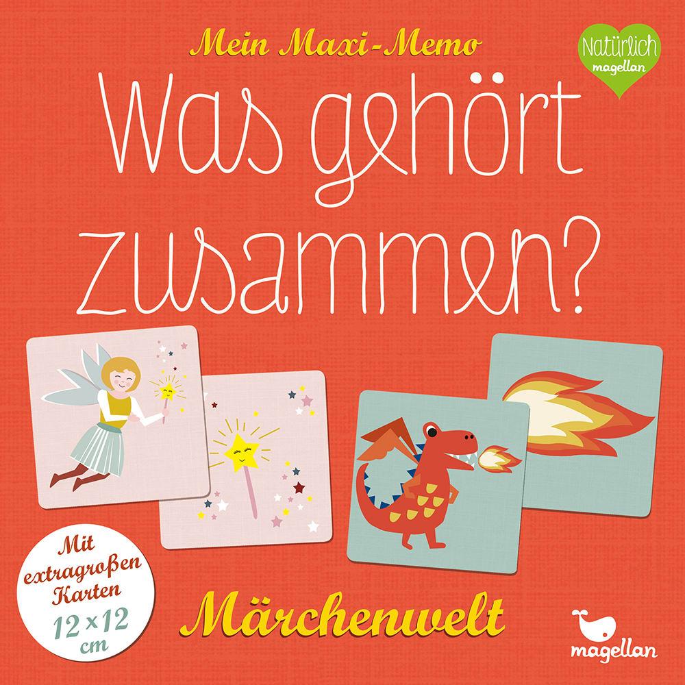 Cover Mein Maxi-Memo Was gehört zusammen Märchenwelt Memo-Spiel von Daniela Merkel