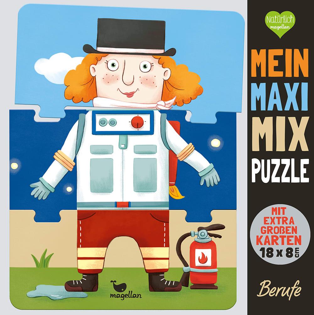 Cover Mein Maxi-Mix-Puzzle Berufe Puzzle Spiel für Kinder von Pina Gertenbach