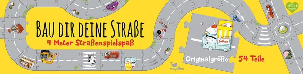 Cover Bau dir deine Straße vier Meter Straßenspielspaß Puzzle Spiel für Kinder von Ina Hattenhauer