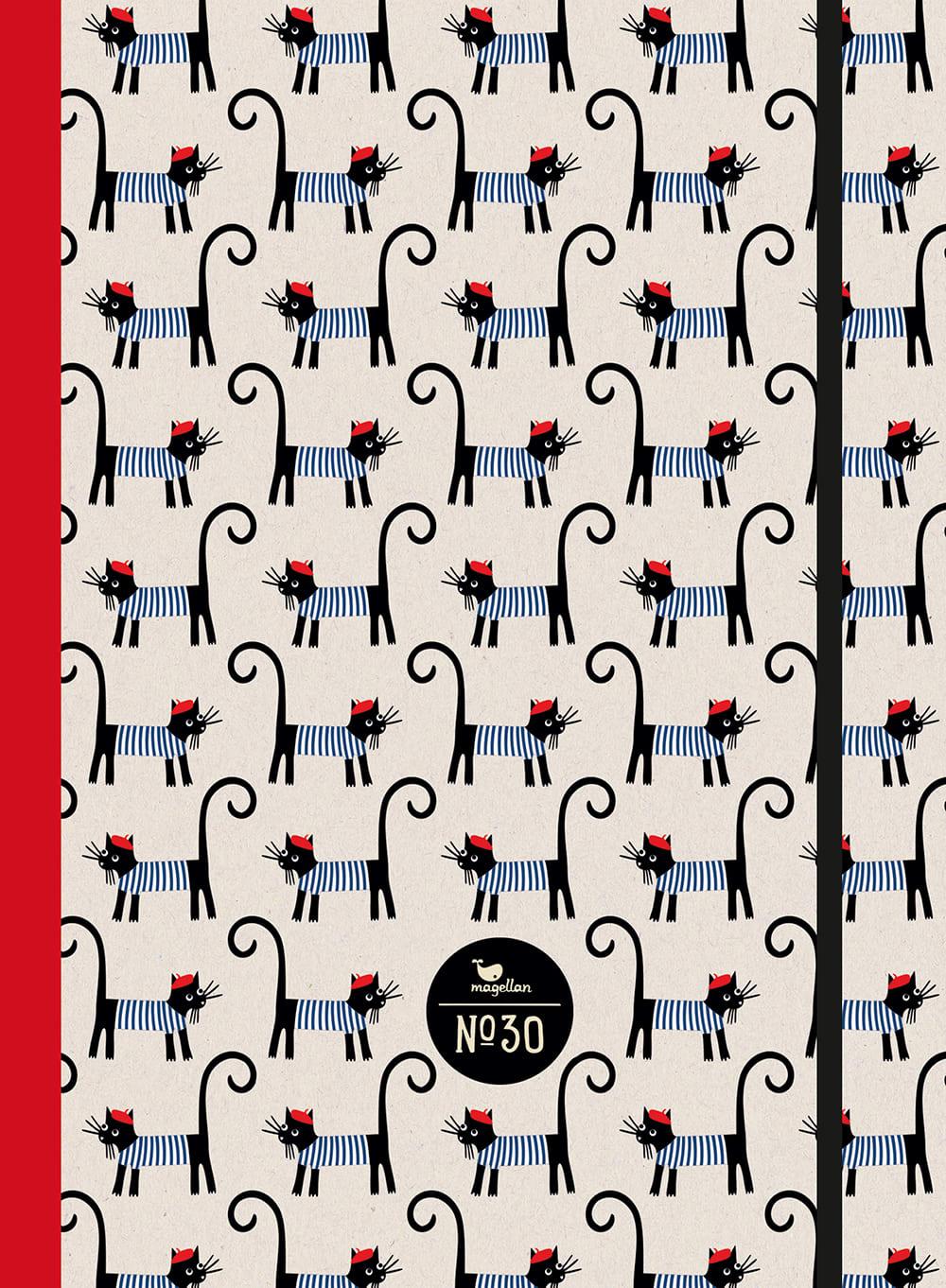 Cover Notizbuch Nummer 30 French Cats Schönes und Kreatives zum Eintragen