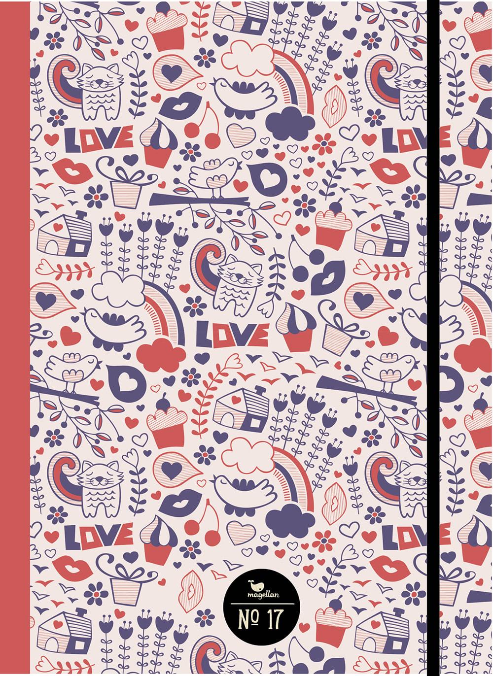 Cover Notizbuch Nummer 17 Love Schönes und Kreatives zum Eintragen