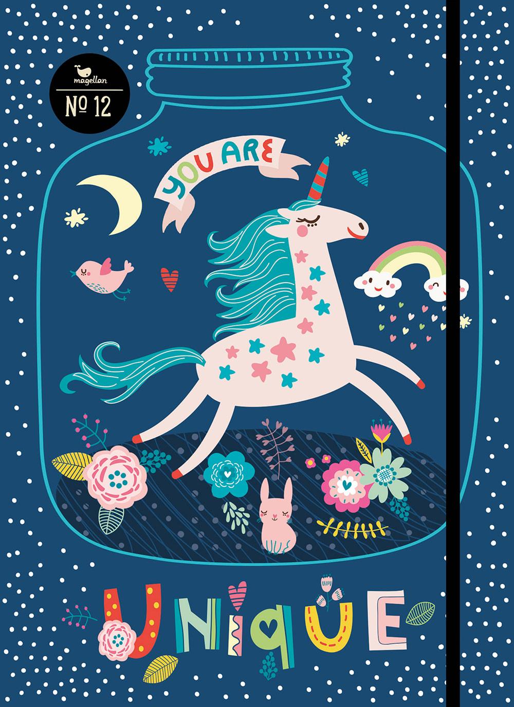 Cover Notizbuch Nummer 12 Einhorn Schönes und Kreatives zum Eintragen