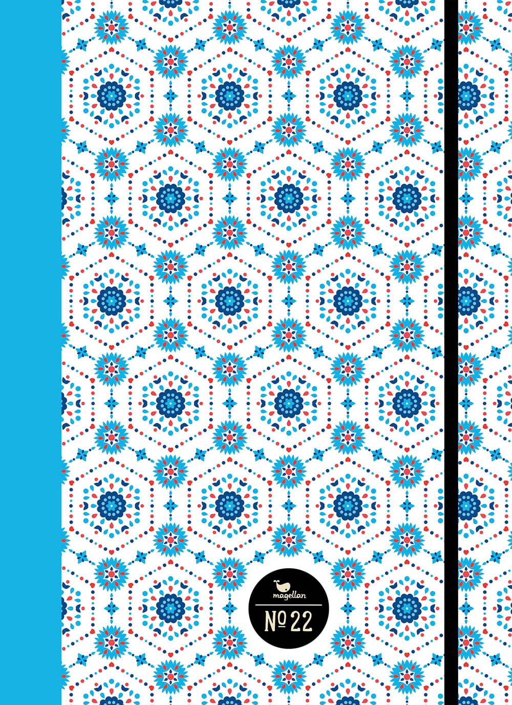 Cover Notizbuch Nummer 22 Prisma blau Schönes und Kreatives zum Eintragen
