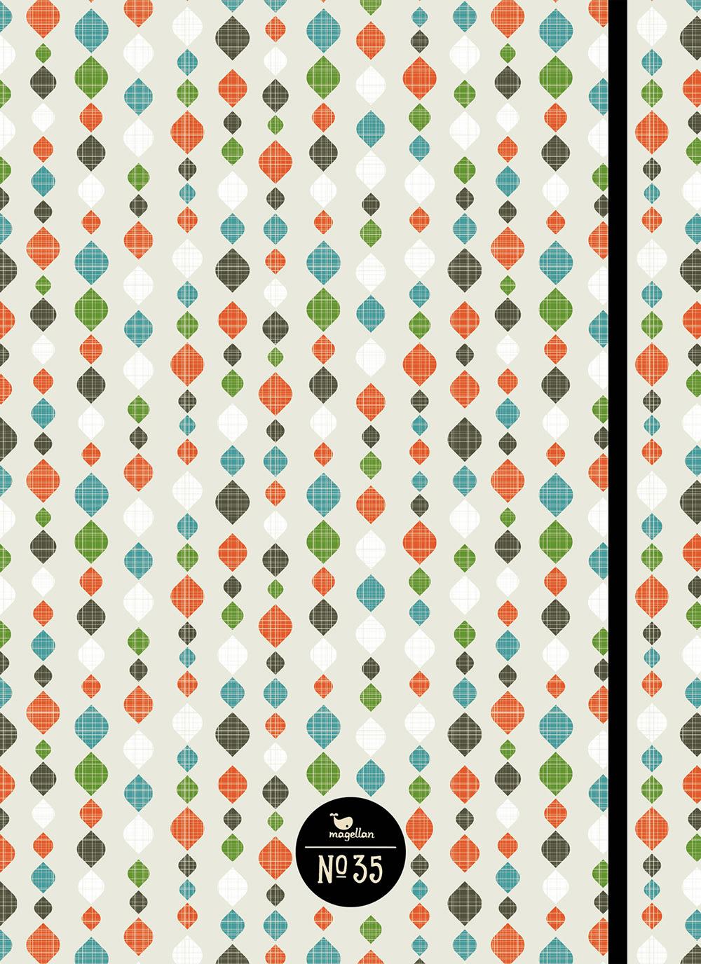 Cover Notizbuch Nummer 35 Vorhang Schönes und Kreatives zum Eintragen