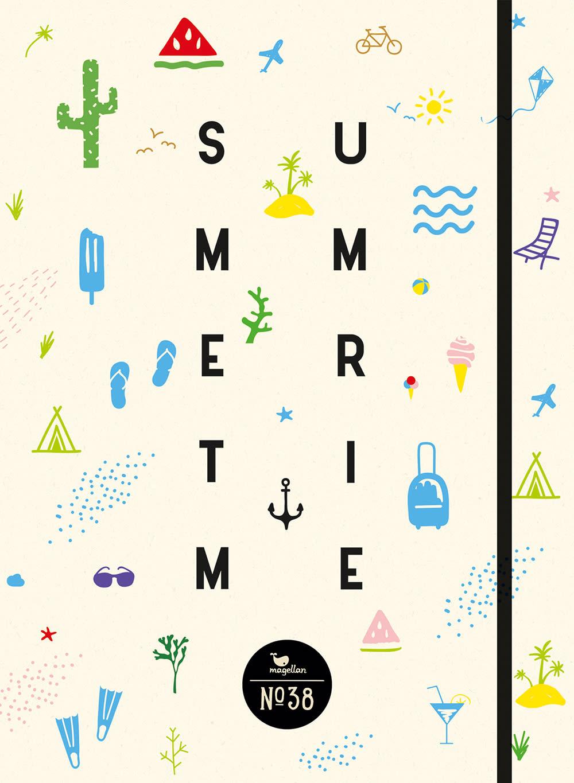 Cover Notizbuch Nummer 38 Summertime Schönes und Kreatives zum Eintragen