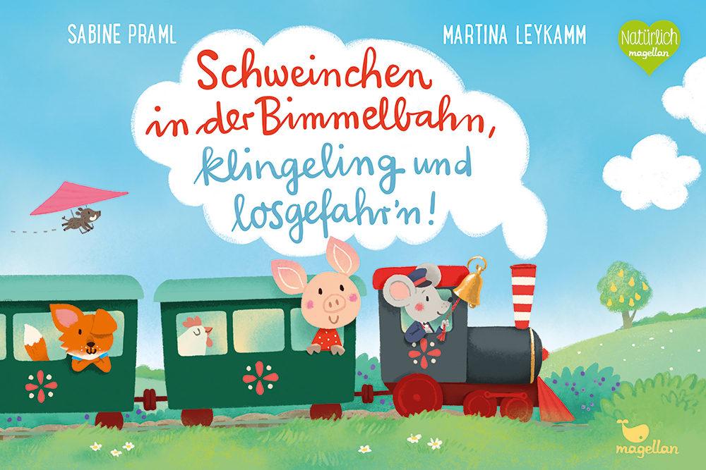 Schweinchen in der Bimmelbahn, klingeling und losgefahr'n!