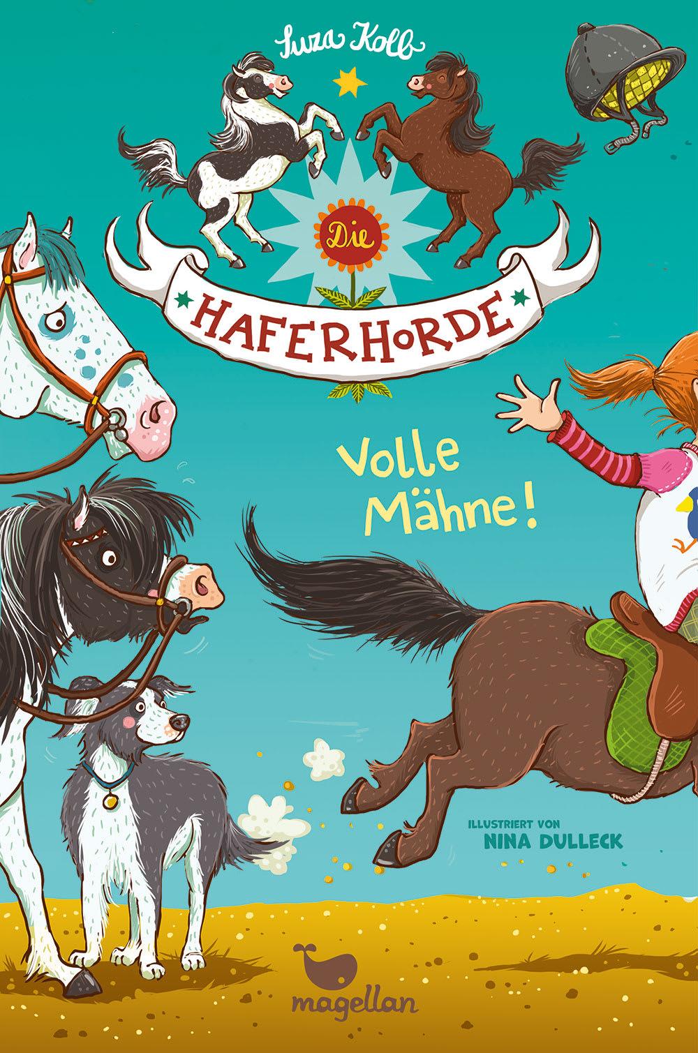 Cover Haferhorde Band2 Volle Mähne Pferdebuch von Suza Kolb