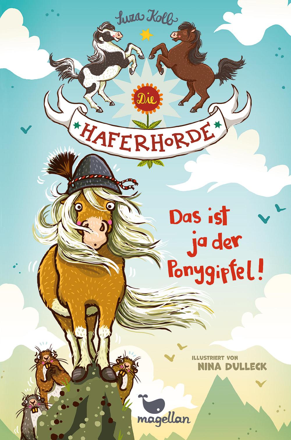 Cover Haferhorde Band13 Das ist ja der Ponygipfel Pferdebuch von Suza Kolb