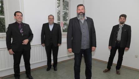 v.l.n.r.: M. Hansen, Dr. G. Reil, Dr. M. Zarnkow, M. Jentsch