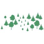Grafik: Große und kleine renaturierte Bäume
