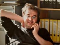 Verleger Jacob Radloff am Telefon