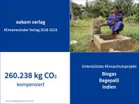 Auszeichnung klimaneutraler Verlag