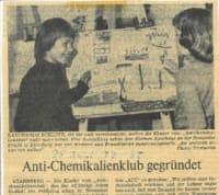 Zeitungsartikel über den Anti-Chemikalienklub