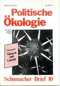 Cover einer alten Ausgabe der politischen Ökologie