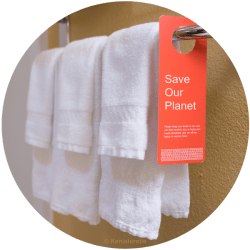Handtücher Umwelthinweis