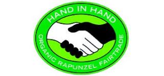 Logo Hand in Hand von Rapunzel