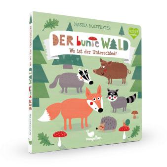 Cover Der bunte Wald Wo ist der Unterschied Suchen Pappbilderbuch von Nastja Holtfreter