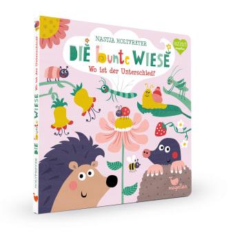 Cover Die bunte Wiese Wo ist der Unterschied Suchen Pappbilderbuch von Nastja Holtfreter