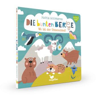 Cover Die bunten Berge Wo ist der Unterschied Suchen Pappbilderbuch von Nastja Holtfreter