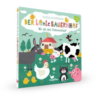Cover Der bunte Bauernhof Wo ist der Unterschied Suchen Pappbilderbuch von Nastja Holtfreter