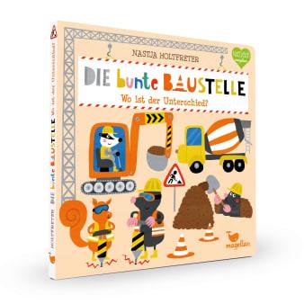 Cover Die bunte Baustelle Wo ist der Unterschied Suchen Pappbilderbuch von Nastja Holtfreter