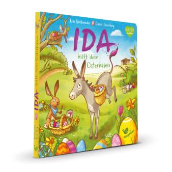 Cover Ida hilft dem Osterhasen Pappbilderbuch von Julia Breitenöder und Carola Sieverding