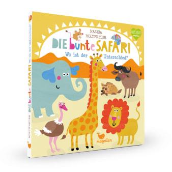 Cover Die bunte Safari Wo ist der Unterschied Suchen Pappbilderbuch von Nastja Holtfreter