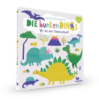 Cover Die bunten Dinos Wo ist der Unterschied Suchen Pappbilderbuch von Nastja Holtfreter