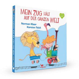 Cover Mein Zug hält auf der ganzen Welt Pappbilderbuch von Norman Klaar und Karsten Teich