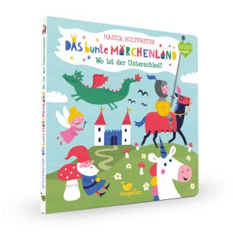 Cover Das bunte Märchenland Wo ist der Unterschied Suchen Pappbilderbuch von Nastja Holtfreter