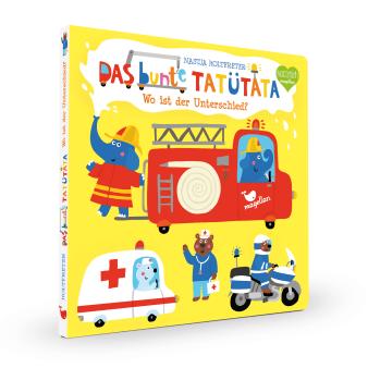 Cover Das bunte Tatütata Wo ist der Unterschied Suchen Pappbilderbuch von Nastja Holtfreter